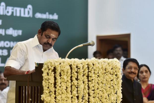 Tamil Nadu chief minister Edappadi K. Palaniswami. Credit: PTI